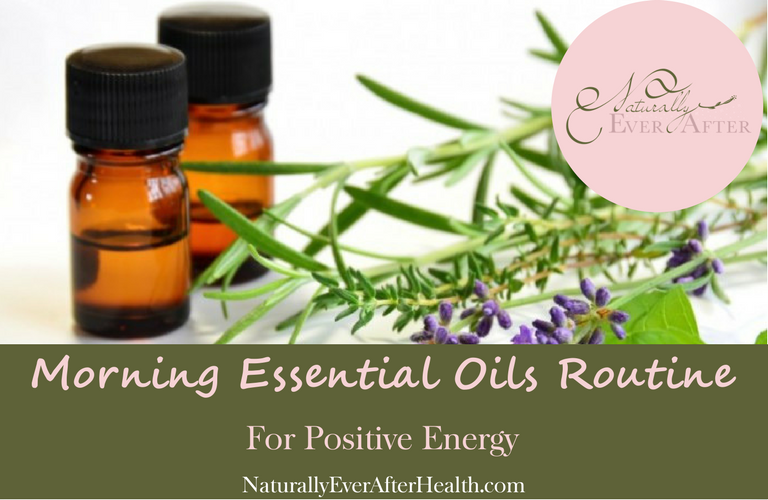 Morning essential oils routine for positive energy