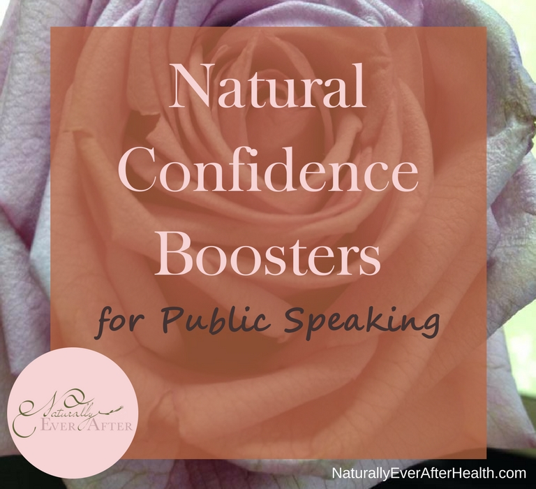 Natural Confidence Boosters for public speaking - blog picture