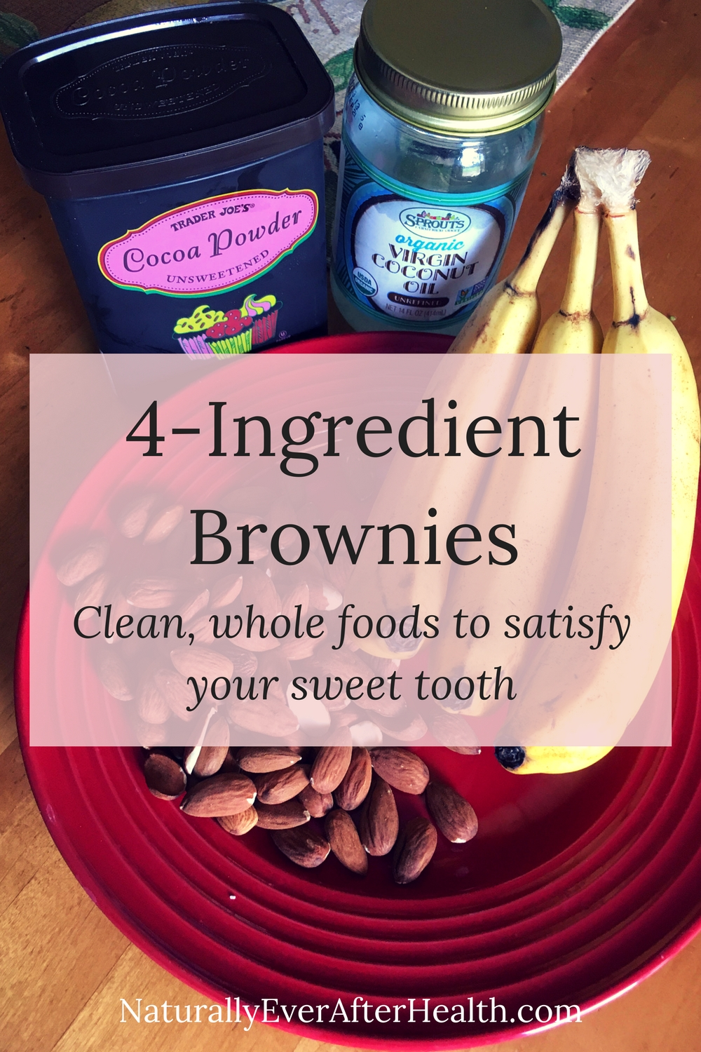 Made from clean, unprocessed foods, these 4-ingredient brownies won't leave your sweet tooth feeling deprived.